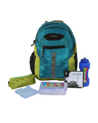Bleu School Bag Ideal for Kids, tee blue and lime