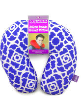 Viaggi Microbead travel neck pillow, blue
