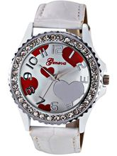 Geneva Ladies Analog Gift Watch (GL-11-WHITE-H)