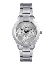 Timex  E-Class Analog Women Watch - TI000Q80000, Silver, Silver