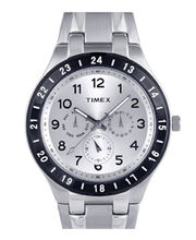 Timex  E-Class Analog White Dial Men's Watch-F900, Silver, Silver