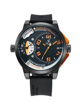 Weide UV1501-4C Orange Black Analog Watch For Men