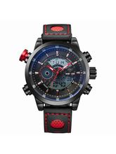 Weide WH3401B-6C Red Black Analog Watch For Men