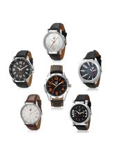 RICO SORDI Mens Set of 6 leather Watches