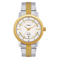 Timex¬ â €  Classic Analog Silver Dial Men's Watch-G910, steel gold, silver