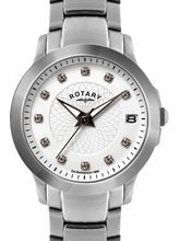 Rotary LB02836-07 Ladies Watch, mother of pearl, silver