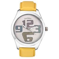 Laurels Original Colors Watch, yellow, silver