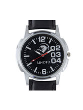 Rinoto Black Strap Black Dial Mens Watches - RIM-F...