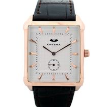 Optima Mens Watch, brown, white