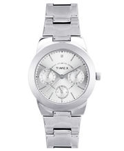 Timex  E-Class Analog Silver Dial Women's Watch-J103, Silver, Silver