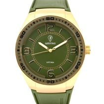 Fashion Track By Optima Mens Watch, green, green