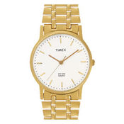 Timex¬ â €  Classic Analog White Dial Men's Watch-A303, golden, white