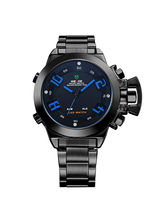 Weide WH1008B-4C Blue Black Analog Watch For Men