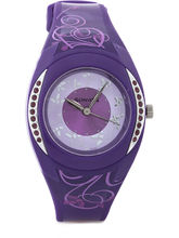 Sonata Analog Watch For Women, Lavender, Silver An...
