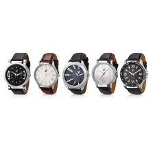 Rico Sordi Set of 5 Mens Leather Watches RSD18-S5-1, multicolor, multicolor