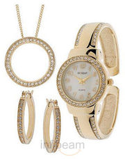 Gossip Watch Goldtone Circle Pendant (MIL10705-Goldtone)