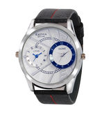 Exotica EF-85-Dual-White-Blue Gents watch, white, black