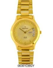 Maxima Gold Dial Fashion Watch (06361CMGYB)