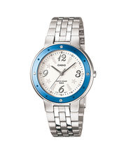 Casio Ladies Watch LTP-1318D-2AVDF, White, Silver