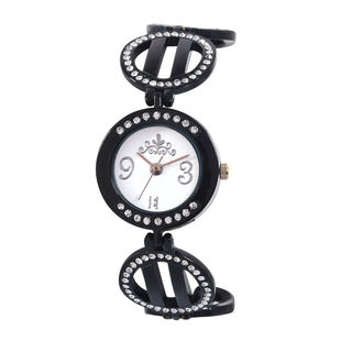 Excelencia White Dial & Black Strap Analog Women's...