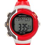 Optima Heart Rate Monitoring Unisex Health Watch (OPT 10001), red, red