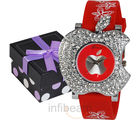 Geneva Ladies Red Dial Watch (GAB-Red)