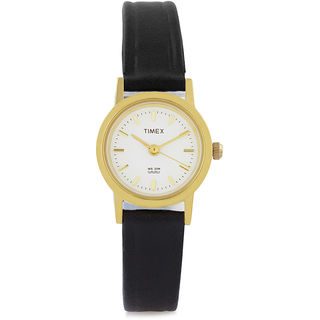 Timex Off White Dial And Black Strap Analog Watch ...
