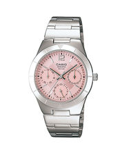 Casio Ladies Watch LTP-2069D-4AVDF, pink, silver