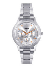 Timex  E-Class Chronograph Women Watch - TI000Q80300, silver, silver