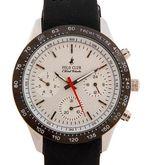 PCBC White Chronograph watch, white, black