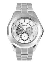 Timex  E-Class Analog Men Watch - TI000P60100, silver, silver