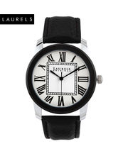 Laurels Premium Men Watch LL-Eng-201, silver matt, black