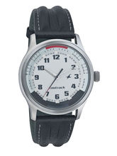 Fastrack White Dial Leather Watch 3001SL01, white, black