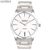 Laurels Original Polo Men's Watch, silver, white