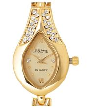 Adine AD-101 - GOLD Ladies Watch, Gold, Gold