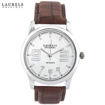 Laurels Original Men Watch, brown, silver