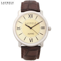 Laurels Original Men Watch, brown, beige