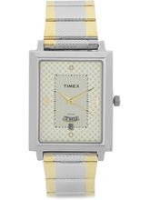 Timex Beige Dial And Gold Strap Analog Watch For M...