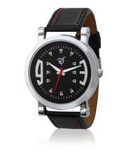 Rico Sordi Mens Leather Watch RSMW-1, Black, Black