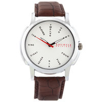 Laurels Original Men Watch Lo-Mas-202, dark brown, silver matt