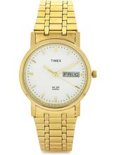 Timex White Dial And Golden Strap Analog Watch For...