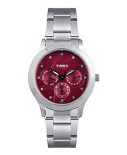 Timex  E-Class Chronograph Women Watch - TI000Q80200, red, silver