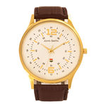 John Smith JS-10014-GRD Gents Watch, brown, white