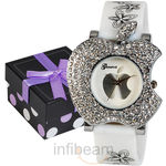Geneva Ladies White Dial Watch (GAB-White), white, white