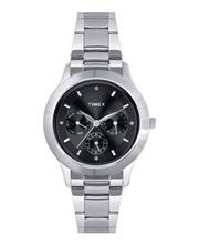 Timex  E-Class Chronograph Women Watch - TI000Q80400, black, silver