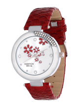 Exotica Fashions Analog Watch - For Women, Red, Re...