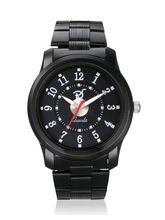 Mens Black Steel Watch, black, black
