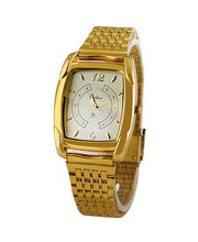 Rochees Gents Watches DLI3WCG114, white, golden