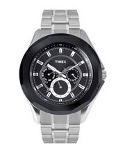 Timex  E-Class Analog Men Watch - TI000P60300, black, silver