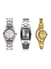 Oleva Set Of 3 Watch Combo For Women